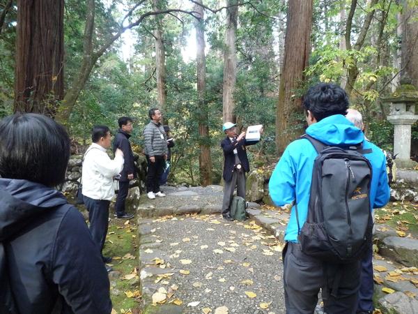 Bグループが見学した白山平泉寺