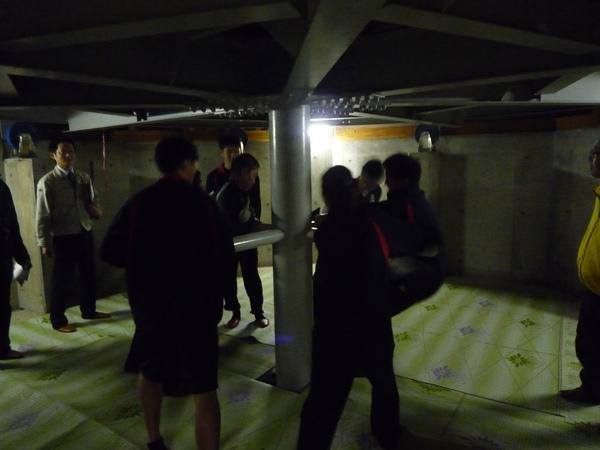 中尾歌舞伎の回り舞台を実際に体験!