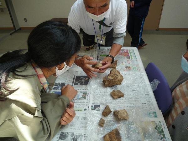 化石についても学びました